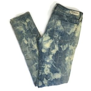 DYLAN GEORGE Acid Wash Distressed Skinny Size 28